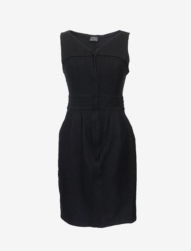 FENDI フェンディ ブラック ウール ドレス ワンピース