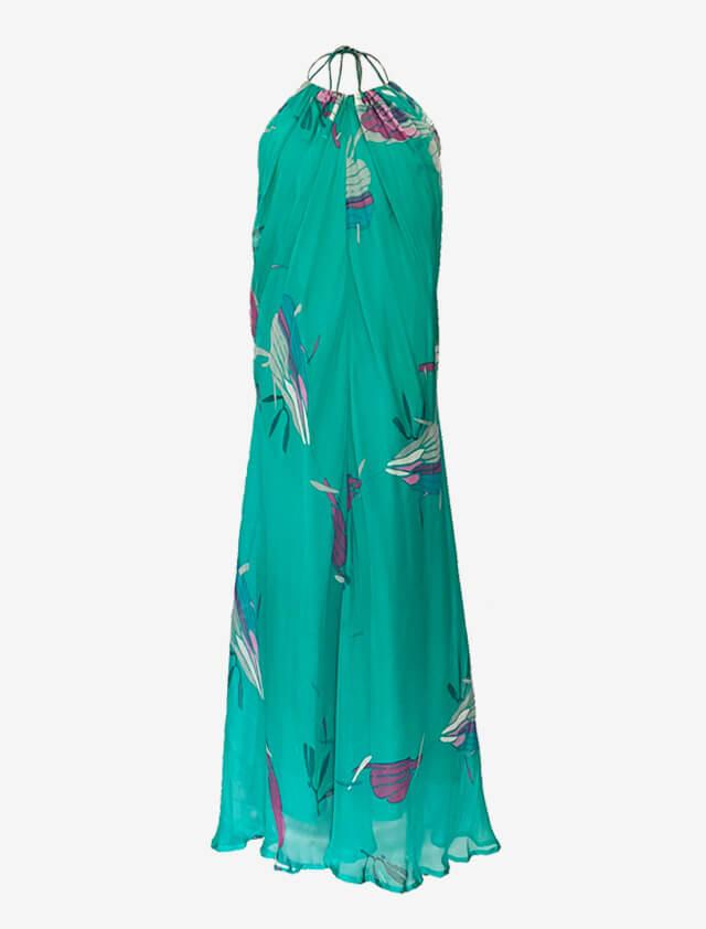 aryn k  グリーン リゾート  シルク ロングドレス