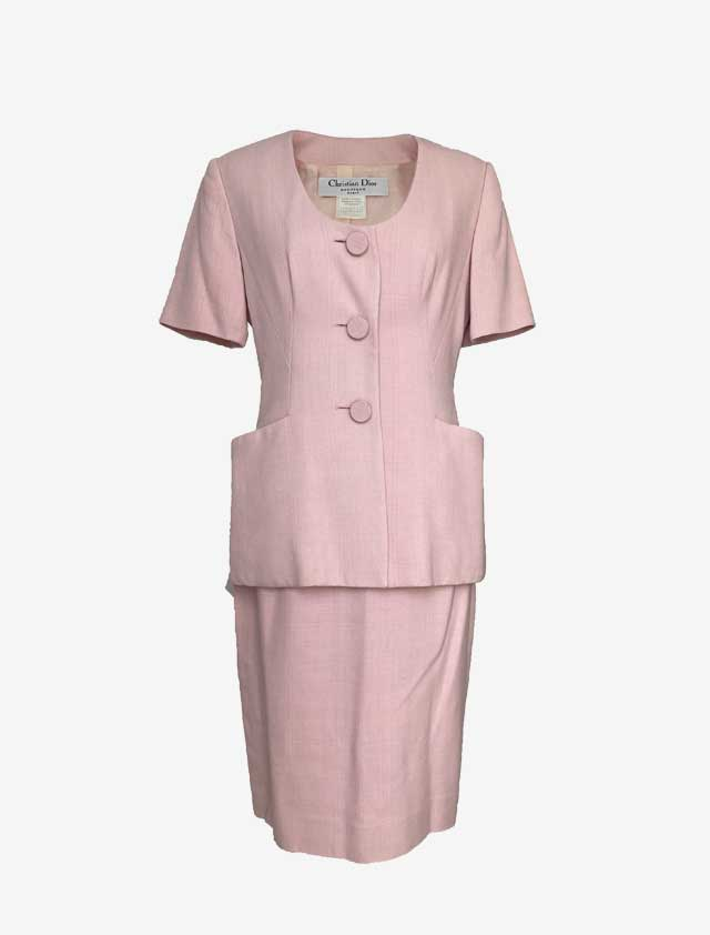 Christian Dior クリスチャンディオール ベビーピンク セットアップ スーツ