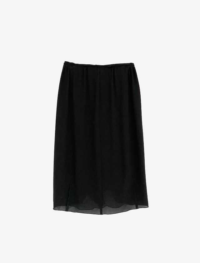NINA RICCI ニナリッチ ブラック シフォンスカート