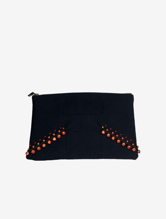BLACK CLUTCH BAG  ビジュークラッチバッグ